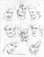 Doctor Who Face Study pencil by whatwouldjoshdo