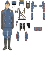 Valkyria Chronicles - Militia Officer Uniform by koach2