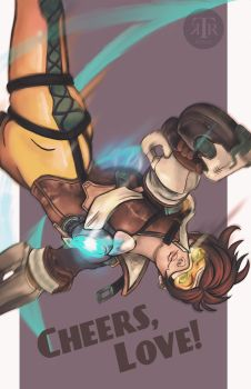 Cheers, Love! Tracer Overwatch fanart by To-Ka-Ro