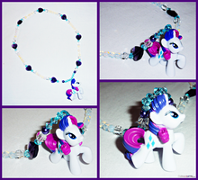 My Little Pony Rarity Charm Necklace by Cateaclysmic