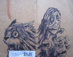 Cover Drawing .Mutate. by lickingstitches