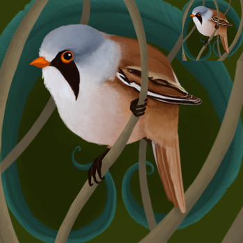 Bearded Tit Icon by Feather-Dancer