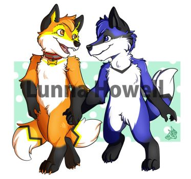 Fox couple - cm by LunnaHowell