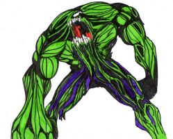 symbiote hulk 5 years ago in DrawingsSymbiote Thing