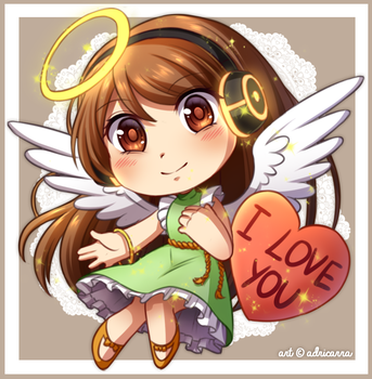 Gift: Angel of love by adricarra