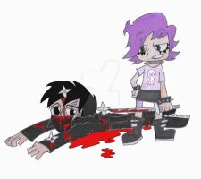 Wounded by Yumi, colourished by DarkPrince2007