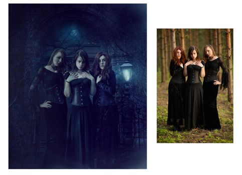 The Coven before and after by barbranz