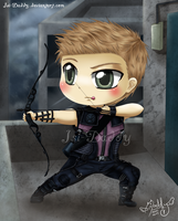 Chibi Hawkeye - Clint Barton by Isi-Daddy