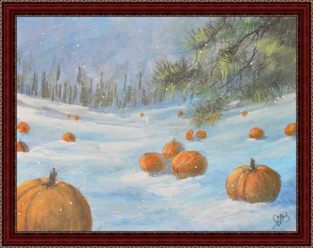 Snow Pumpkins by joelabianca