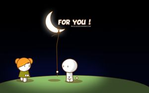 For you... the moon by pincel3d