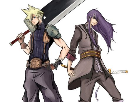 Cloud Strife Yuri Lowell - FFVII/Tales of Vesper by FireDrawing