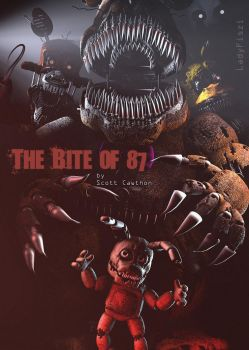 The Bite of 87 - FNAF movie poster (fan made) by LadyFiszi