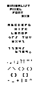 The Most Minimal Font by emerazea