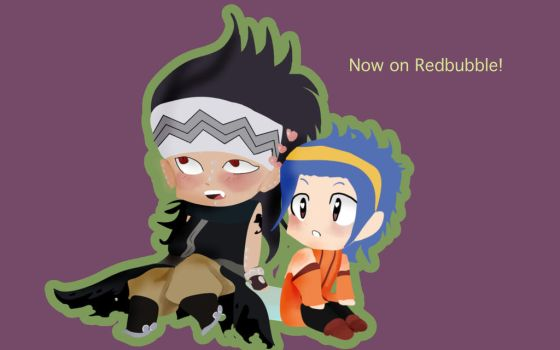 Gajeel X Levy Chibi Couple on Redbubble by MoonFairyDraws