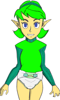 Saria diapered by doomrater