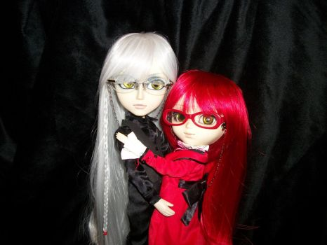 My lovely Undertaker and Grell Dolls ^__^ by Grens-Fairy