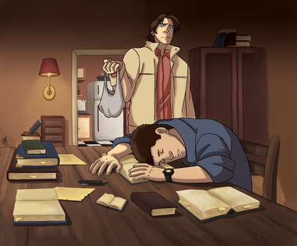 SPN - Research all night by Renny08