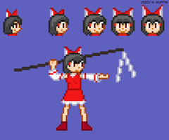 Reimu outlines by DizzyHMuffin
