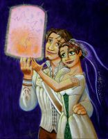 Tangled: Wedding Portrait by WolfenM