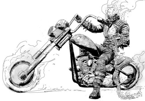 The Ghost Rider by T-RexJones