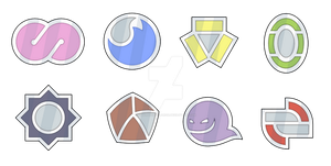 Urora Gym Badges by Saiph-Charon