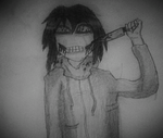 Jeff the killer's smile by SALT--WATER