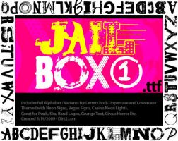 Jailbox1 Free Font by KeepWaiting