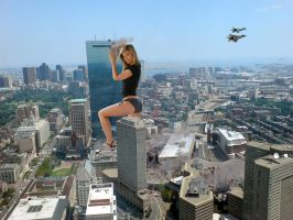 Giantess in the city 13 by lala222221