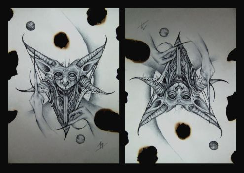 baphomet head sketch by imagist