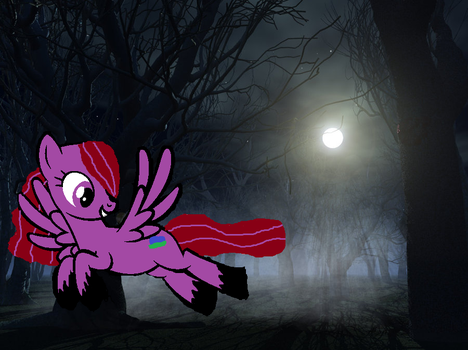 Violet in the Spooky Forest by Michaella-Lovecuti