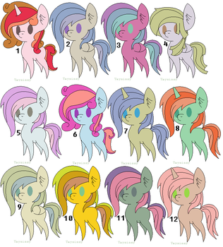 mlp shipping adopts 12 [open] by adoptsbot