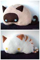 Stripey + Cocoa Kitty Beans by designslave