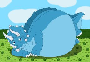 Superchubby Triceratops by MCsaurus