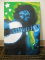 Gilberto Gil Multilayered Stencil on Canvas by emelyjensen