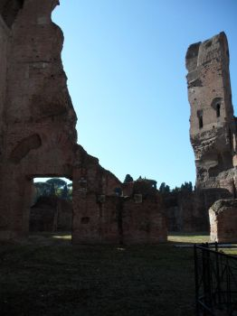 Shadow and Light In Caracalla's Ruins by J-N-K