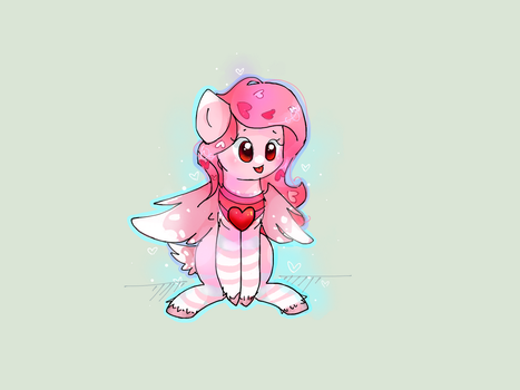 Comission - Love Dove by PinkFlutter