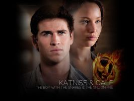 Katniss and Gale by ishadowhunter