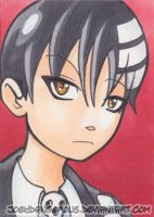 Soul Eater Death the Kid Sketch card by JoeOiii