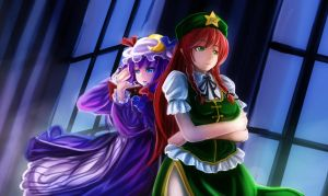 Sleepless Night: Patchi X Meiling by AmberClover