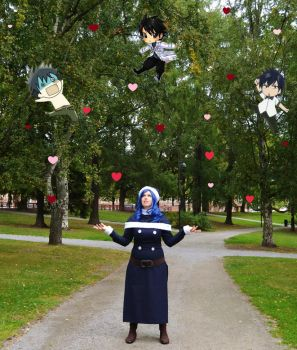 It's raining Gray! / Juvia - Fairy Tail by destinette