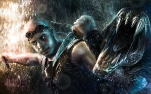 Riddick Artwork (drawn by Alexander Levett) by AlexanderLevett