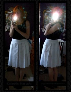 White pleated cosplay skirt by ox0kristen0xo