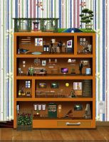 living in a bookshelf by goazilla
