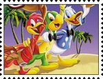 Three Caballeros Stamp by katamariluv