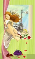 spring, Paris, love by lessli