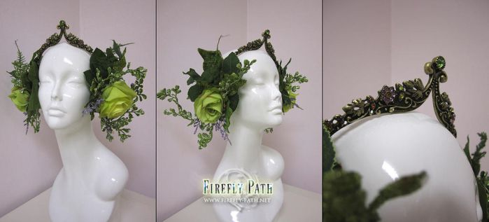 Spring Forest Headress by Firefly-Path