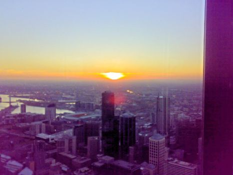 sunset off the Eureka tower by Veruca1280