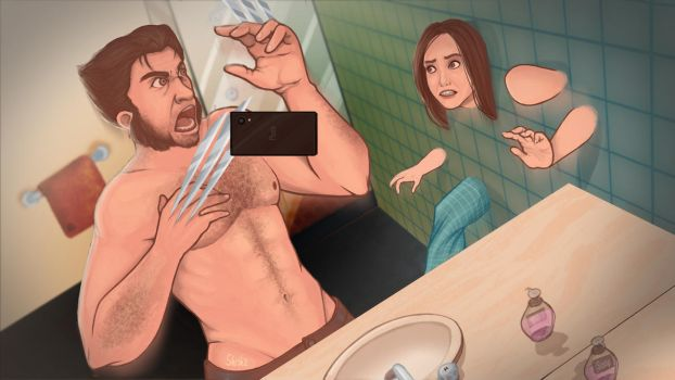 Wolverine: Selfie Machine by Skrikz