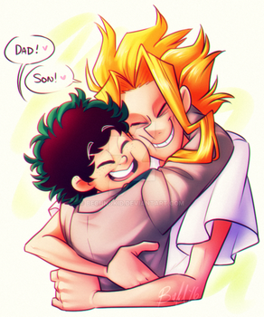 BNHA: Plus Ultra Dad and Son by BechnoKid