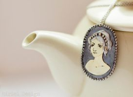 Handmade Gold and Silver Cameo Brooch/Pendant by MirielDesign